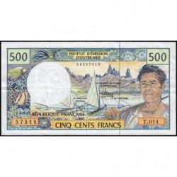 Territoire Français du Pacifique - Pick 1g - 500 francs - Série T.014 - 2010 - Etat : TTB
