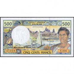 Territoire Français du Pacifique - Pick 1g - 500 francs - Série C.016 - 2010 - Etat : NEUF