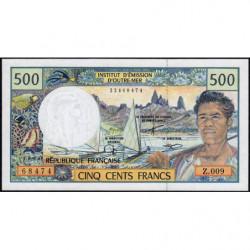 Territoire Français du Pacifique - Pick 1d - 500 francs - Série Z.009 - 2001 - Etat : NEUF