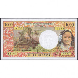 Territoire Français du Pacifique - Pick 2l - 1'000 francs - Série A.050 - 2012 - Etat : NEUF