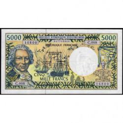 Territoire Français du Pacifique - Pick 3e - 5'000 francs - Série C.008 - 2000 - Etat : TTB
