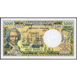 Territoire Français du Pacifique - Pick 3f - 5'000 francs - Série T.008 - 2001 - Etat : NEUF