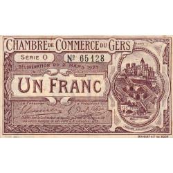 Auch (Gers) - Pirot 15-26a - Série O - 1 franc - 1921 - Etat : TTB