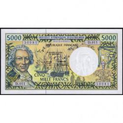 Territoire Français du Pacifique - Pick 3g - 5'000 francs - Série D.011 - 2005 - Etat : NEUF