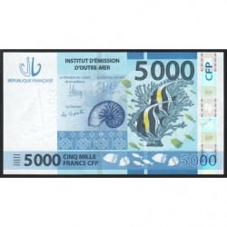 Territoire Français du Pacifique - Pick 7a - 5'000 francs - 2014 - Etat : NEUF