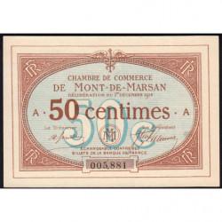 Mont-de-Marsan - Pirot 82-1 - Série A - 50 centimes - 1914 - Etat : pr.NEUF
