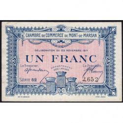 Mont-de-Marsan - Pirot 82-28 - 1 franc - Série 52 - 1917 - Etat : TTB
