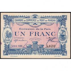 Mont-de-Marsan - Pirot 82-32 - Série 134 - 1 franc - 1918 - Etat : TTB+