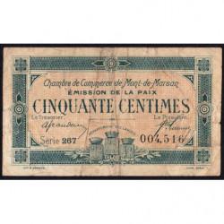 Mont-de-Marsan - Pirot 82-34 - 50 centimes - Série 267 - Emission de la Paix 1921 - Etat : B+