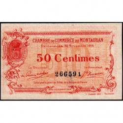 Montauban - Pirot 83-1 - 50 centimes - 1914 - Etat : SUP