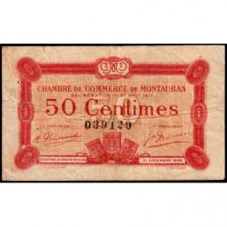 Montauban - Pirot 83-13 - 50 centimes - 1917 - Etat : TB