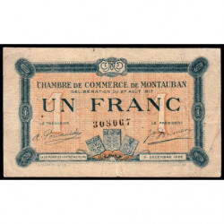 Montauban - Pirot 83-15 - 1 franc - 1917 - Etat : TB