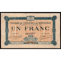 Montauban - Pirot 83-15 variété - 1 franc - 1917 - Etat : TB