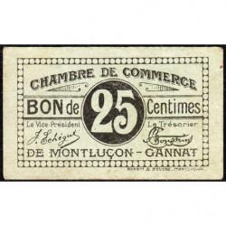 Montluçon-Gannat - Pirot 84-71a - 25 centimes - Etat : TTB+