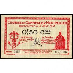 Montpellier - Pirot 85-6 - 50 centimes - Série 062 - 09/08/1915 - Etat : TTB+