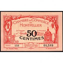 Montpellier - Pirot 85-20 - 50 centimes - Série 156 - 17/07/1919 - Etat : SUP