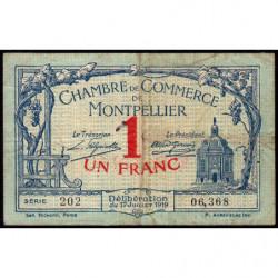 Montpellier - Pirot 85-21 - 1 franc - Série 202 - 17/07/1919 - Etat : TB