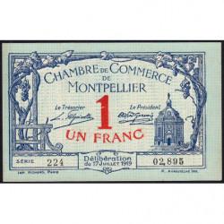 Montpellier - Pirot 85-21 - 1 franc - Série 224 - 17/07/1919 - Etat : SUP+