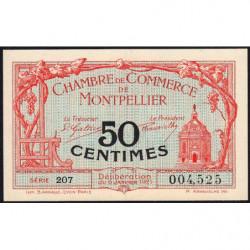 Montpellier - Pirot 85-22 - 50 centimes - Série 207 - 06/01/1921 - Etat : NEUF