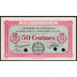 Moulins et Lapalisse - Pirot 86-2a - 50 centimes - Série 1.2 - 1916 - Spécimen - Etat : NEUF