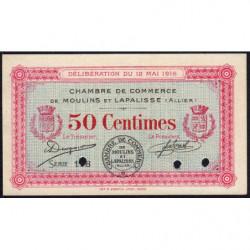 Moulins et Lapalisse - Pirot 86-2b - 50 centimes - Série 1.8 - 12/05/1916 - Spécimen - Etat : NEUF