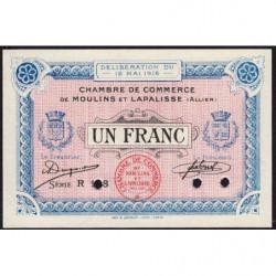 Moulins et Lapalisse - Pirot 86-5 - 1 franc - Série  R 118 - 1916 - Spécimen - Etat : NEUF