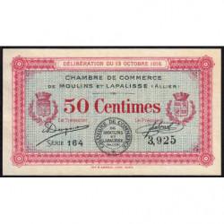 Moulins et Lapalisse - Pirot 86-7 - 50 centimes - Série 164 - 13/10/1916 - Etat : SUP+