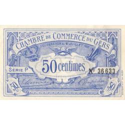 Auch (Gers) - Pirot 15-27 - 50 centimes - Série P - 06/07/1921 - Etat : SUP