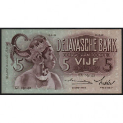 Indes Néerlandaises - Pick 78c - 5 gulden - 16/08/1939 - Etat : NEUF