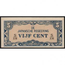 Indes Néerlandaises - Pick 120c - 5 cent - 1942 - Etat : NEUF