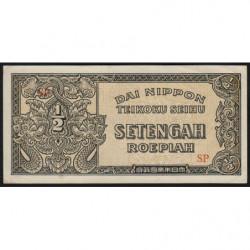 Indes Néerlandaises - Pick 128a - 1/2 roepiah - 1944 - Etat : SPL