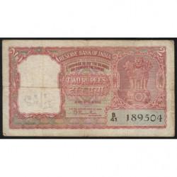 Inde - Pick 28 - 2 rupees - 1949 - Etat : TB-