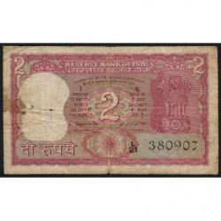Inde - Pick 52 - 2 rupees - 1970 - Etat : B+