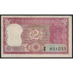 Inde - Pick 53a - 2 rupees - 1972 - Sans lettre - Etat : SUP