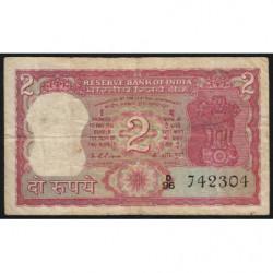 Inde - Pick 53c - 2 rupees - 1976 - Lettre A - Etat : TB