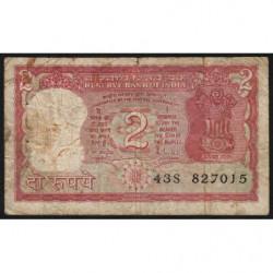 Inde - Pick 53Ac - 2 rupees - 1985 - Lettre A - Etat : B