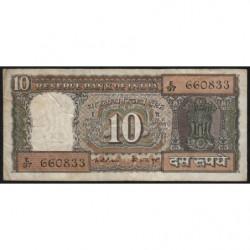 Inde - Pick 60c - 10 rupees - 1975 - Lettre B - Etat : TB
