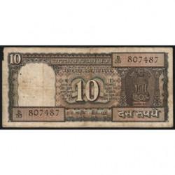 Inde - Pick 60Aa - 10 rupees - 1987 - Sans lettre - Etat : B