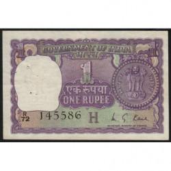 Inde - Pick 77r - 1 rupee - 1976 - Lettre H - Etat : SUP