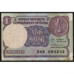 Inde - Pick 78b - 1 rupee - 1981 - Sans lettre - Etat : TB+