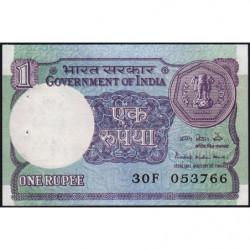 Inde - Pick 78Aa2 - 1 rupee - 1984 - Sans lettre - Etat : SPL