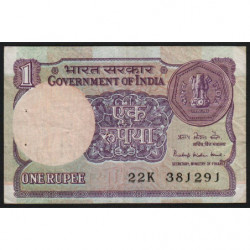 Inde - Pick 78Aa3 - 1 rupee - 1985 - Sans lettre - Etat : TTB