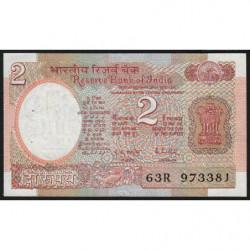 Inde - Pick 79i - 2 rupees - 1987 - Lettre B - Etat : TTB