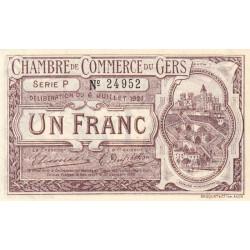 Auch (Gers) - Pirot 15-28 - 1 franc - Série P - 06/07/1921 - Etat : SUP+