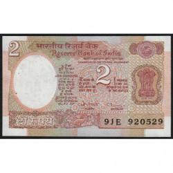 Inde - Pick 79m - 2 rupees - 1993 - Lettre B - Etat : SPL
