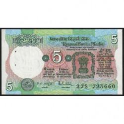 Inde - Pick 80p - 5 rupees - 1989 - Lettre A - Etat : SPL