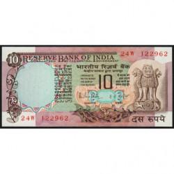 Inde - Pick 81g - 10 rupees - 1987 - Lettre B - Etat : SPL