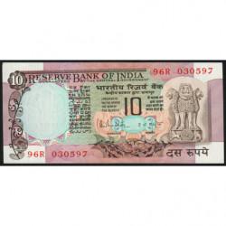 Inde - Pick 81h - 10 rupees - 1989 - Lettre C - Etat : SPL