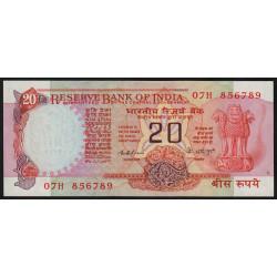 Inde - Pick 82b - 20 rupees - 1976 - Sans lettre - Etat : SPL