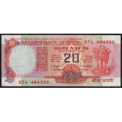 Inde - Pick 82e - 20 rupees - 1979 - Lettre A - Etat : TTB-